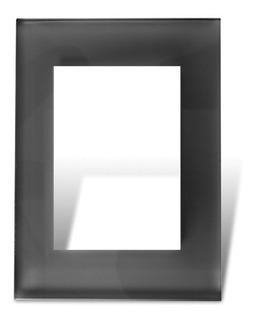 Tapa 5x10 Con Distanciador 4b Vidrio Negro Bauhaus Cambre