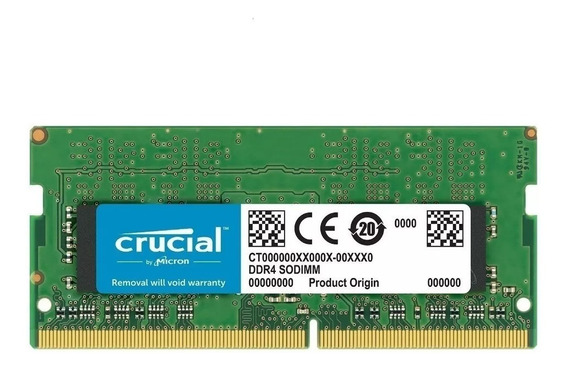 Memoria Notebook 4gb Ddr4 2400mhz Crucial Novo Original
