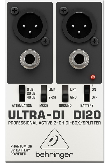 Direct Box Behringer Ultra-di Di20 Di-20 2ch + Garantia +nf