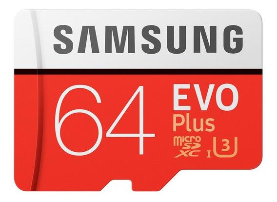 Cartão Samsung Micro Sd Evo Plus 64gb 100mb/s Sdxc U3 4k