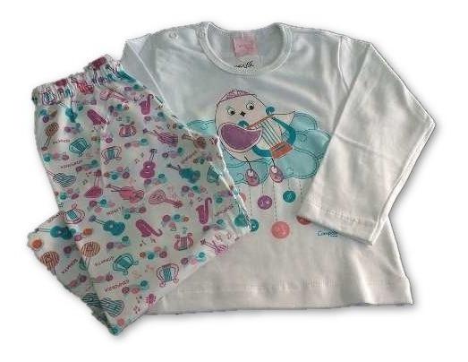 Pijama Infantil Feminino Algodão Outono-inverno 12x S/juros