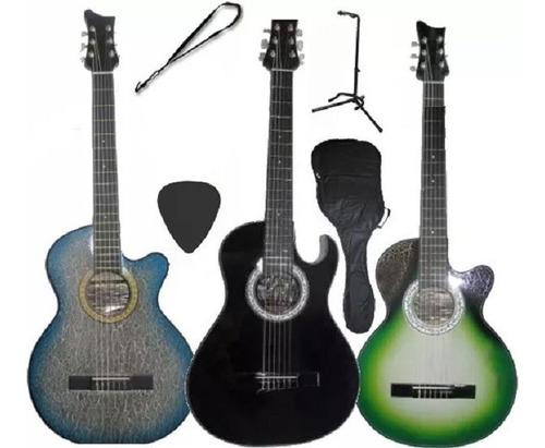 Guitarra Acustica Atril De Piso Forro Colgante Pua Método