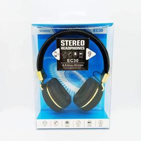 Fone Headset Headphone Super Bass Grave Bluetooth Sd Fm Ec30