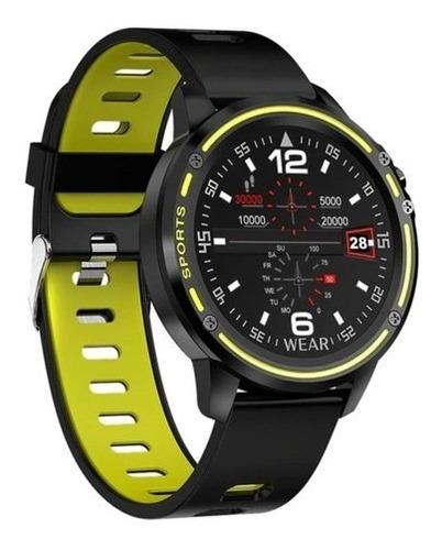 Relógio Smartwatch Redondo L8 Plus Frequência Cardíaca