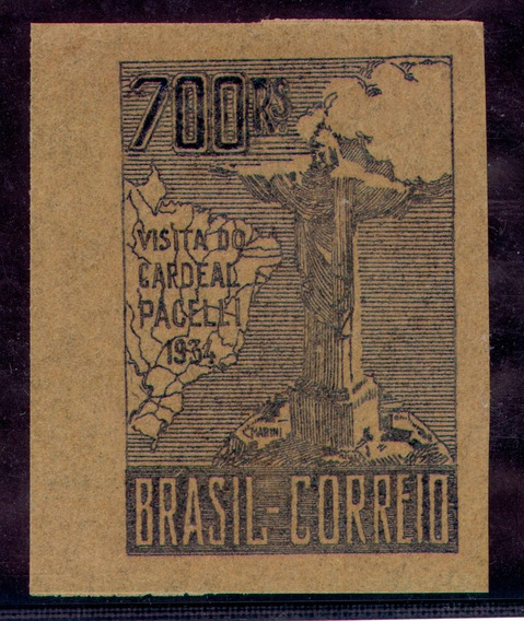 Prova Selo Cardeal Pacelli Papel Jornal 700 Réis C Triângulo