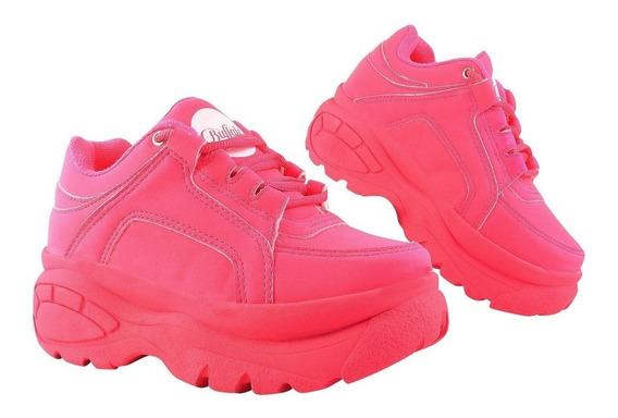 Tênis Sneaker Bf Feminino Urbano Plataforma De 5cm Altura