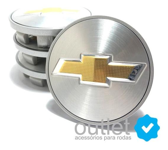 Kit 4 Calotinha De Roda Chevrolet Cobalt + 16 Porca Cromada