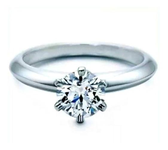 Anillos Oro 14k Compromiso Diamante Natural .40ct H Vs