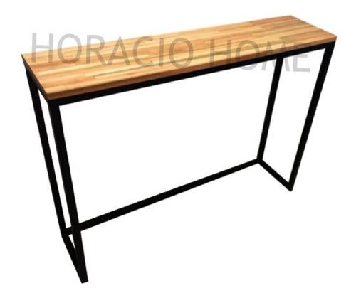 Mesas De Arrime - Juego Living Hierro Madera - Horacio Home