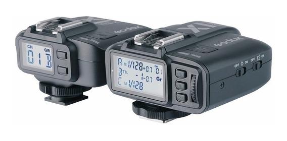 Rádio Flash Godox X1(c) Ttl Para Canon (par) C/ Nf