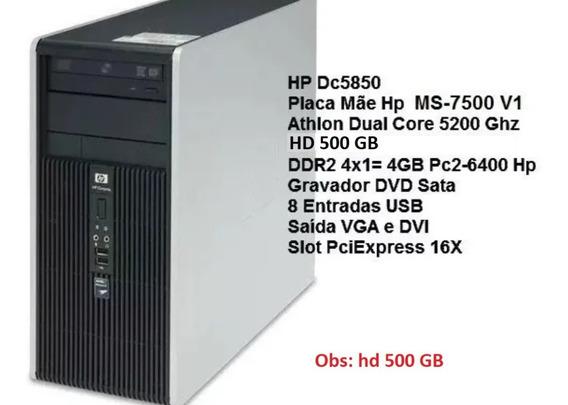 Computador Hp Dc5850 Athlon 5200 Ddr2 4gb Hd 250
