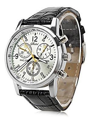 Relógio Quartz Analógico Masculino Preto - Importado - Lindo