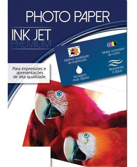 Papel Fotografico Inkjet A4 Glossy Premium 180g Cx.c/50