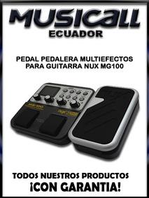 Pedal Pedalera Multiefectos Para Guitarra Nux Mg100