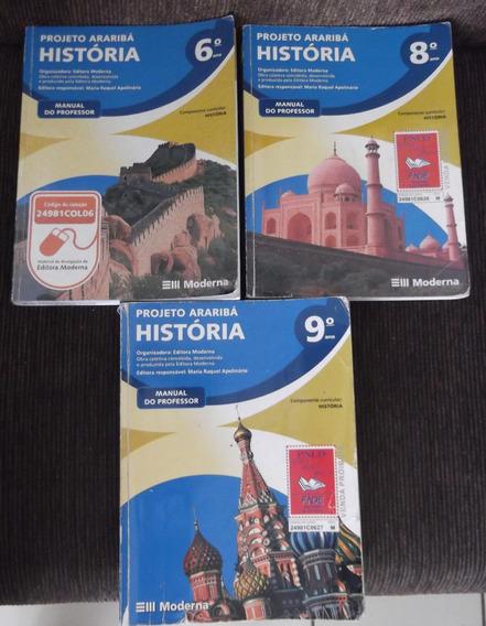 3 Livros Didáticos Do Professor História Araribá Moderna