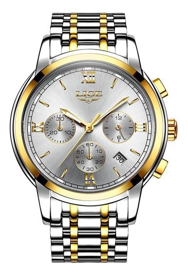 Lige Fashion Luxury Stainless Steel Men Relojes 3atm Reloj