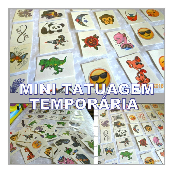 350 Tatuagens Infantis Temporárias 3 X 4 Cm
