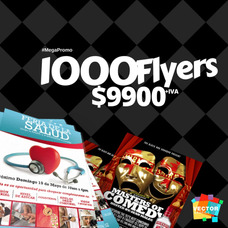 Flyers Volantes Afiches Tripticos Full Color Economicos