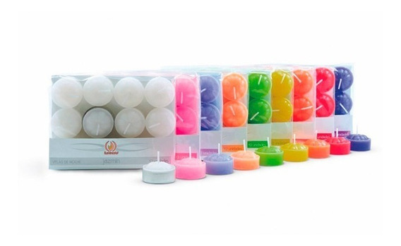 Velas De Noche Parafina Varios Colores - Paquete X 12 Uni !!