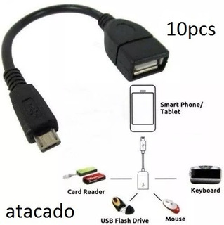 Cabos Adaptador Usb V8 Otg Celular E Tablet Atacado 10pcs