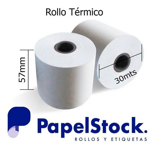 10 Rollos De Papel Fiscales Termico 57x30 Metros Lisos