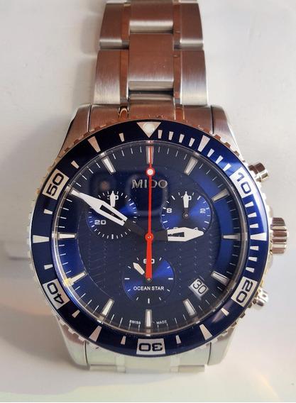 Relógio Mido Ocean Star Navy Blue M011.417.11.041.02 Novo