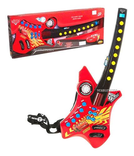 Imagen 1 de 6 de Guitarra Electronica Cars Con Correa Original Disney