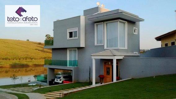 Imobiliária Em Atibaia - Casa À Venda Em Condomínio Fechado De Alto Padrão Em Atibaia. Segurança 24 Horas. - So0180