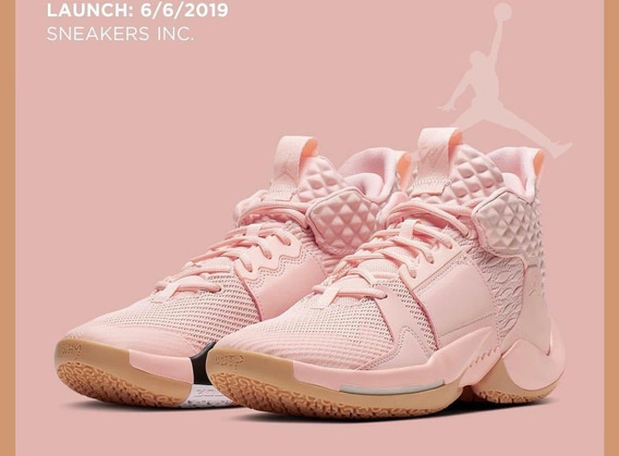 Tenis Nike Jordan Why Not Zero 2.0 Rosa Basketball