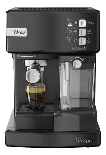 Imagen 1 de 2 de Cafetera Oster PrimaLatte BVSTEM6603 automática negra metálico para expreso y cápsulas monodosis 220V
