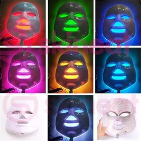 Máscara Led 7 Cores Tratamento Facial Fototerapia