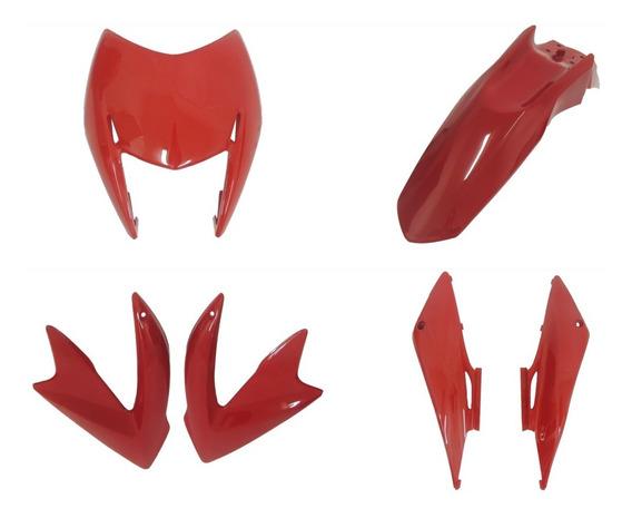 Carenagem Nxr Bros 125 Kit Completo Vermelho 2013