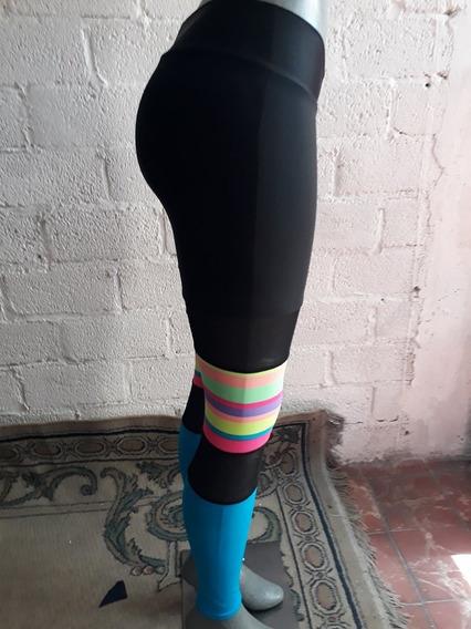 Leggins Colombianos Calceta Varios Colores