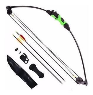 Arco E Flecha Composto Juvenil 12lbs - Man Kung + 4 Flechas