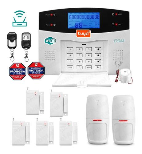 Imagen 1 de 10 de Wifi Kit 11 Alarma Inalambrica Gsm Vecinal Seguridad Casa Sistema Sensor Defensa Alerta Control Via App Celular Negocio