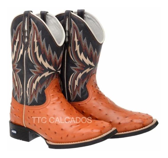 Bota Texana Country Bordada Modelo Novo Ttc107 Lançamento
