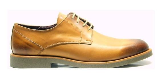 Zapatos Pizzoni 4052 Urbanos Hombre Vestir Cuero Suela Negro