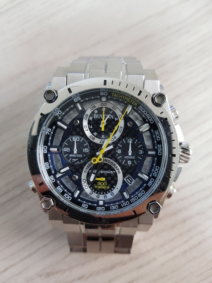 Relógio Bulova Precionist Prata. O Clássico! Modelo 96b175