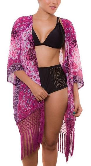 Salida De Baño Praie Ref: 1814 Kimono Flores