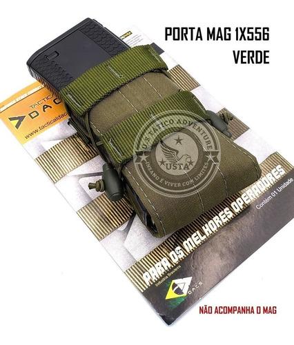 Bolso Porta Carregador Mag M4/m16 Modular Dacs 1x 556 Verde