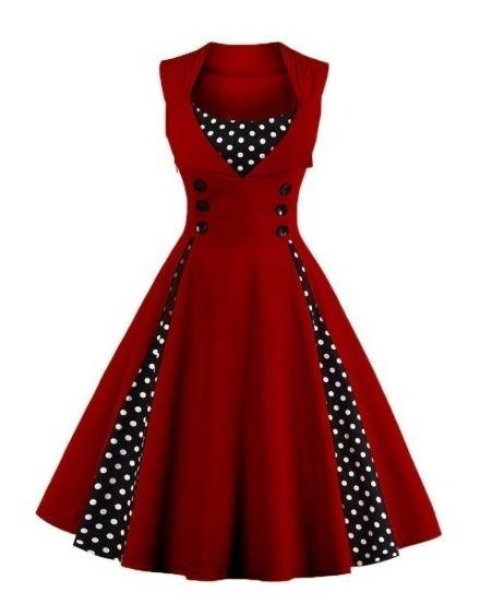Vestido Vintage Retro Años 50 Rockabilly (envio Gratis)