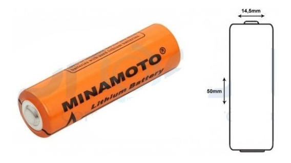Bateria Pilha Aa 3,6v 2400mah Lithium Er14505 - Minamoto