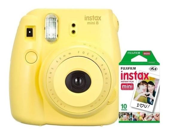 Câmera Instantânea Fuji Instax Mini 9 Amarela + 10 Filmes