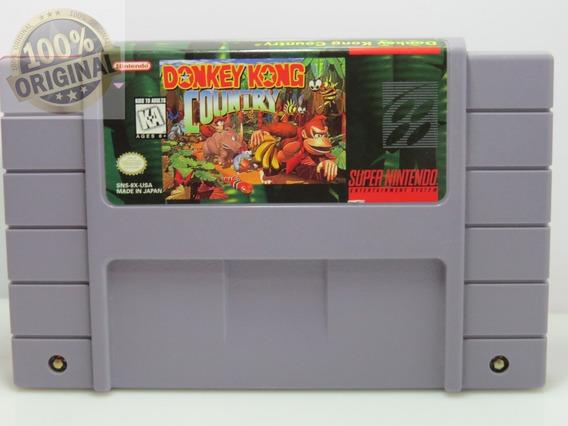 Cd 314 Donkey Kong Snes Original Super Nintendo Usado