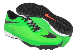 Zapatos De Fútbol Nike Para Hombre Simipiel Verde Con Negro