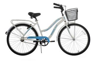 Bicicleta Dama Hendel Playera Full Aluminio R-26 Blanco