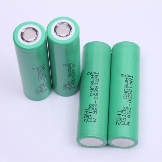 4 Baterias Originais Samsung Inr18650-25r 2500mah Smok Vapor