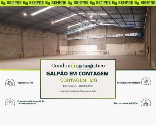 Imagem 1 de 18 de Galpão Para Alugar, 1.650 M² - Vila Paris - Contagem/mg - Ga1252