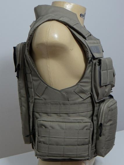 Colete Modular Cinza Brigada Militar- 2 Bolsos Mais Bordados