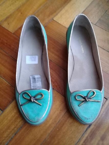 Zapatos Cuero, Verde Esmeralda